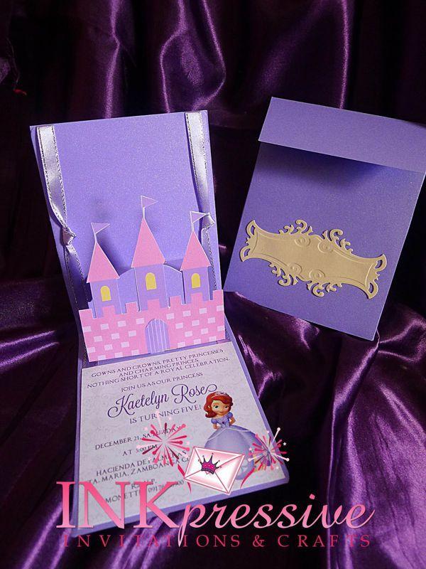 Invitacion especial Princesa Sofia personalizada