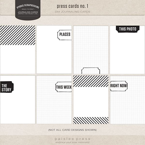 Introducing a new line of Printables press cards – a new series of printable journaling cards great for documenting bits and pieces of life and perfect for Project Life.