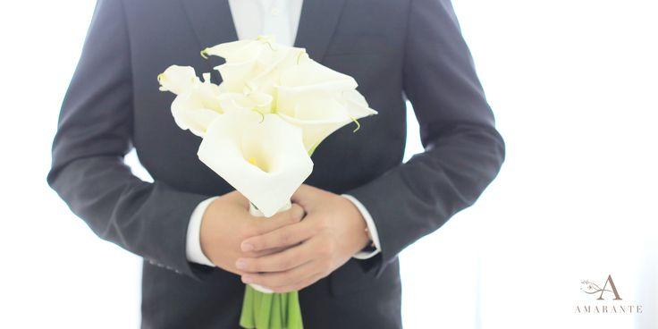Calla Lilies Wedding Bouquet by Amarante Flower Boutique