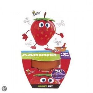 Het Kids Kweeksetje Aardbei van Buzzy is een origineel groeicadeautje of natuurlijk leuk voor eigen gebruik. Leuk voor kinderen om de figuren op het potje te plakken. Inclusief wiebel oogjes!