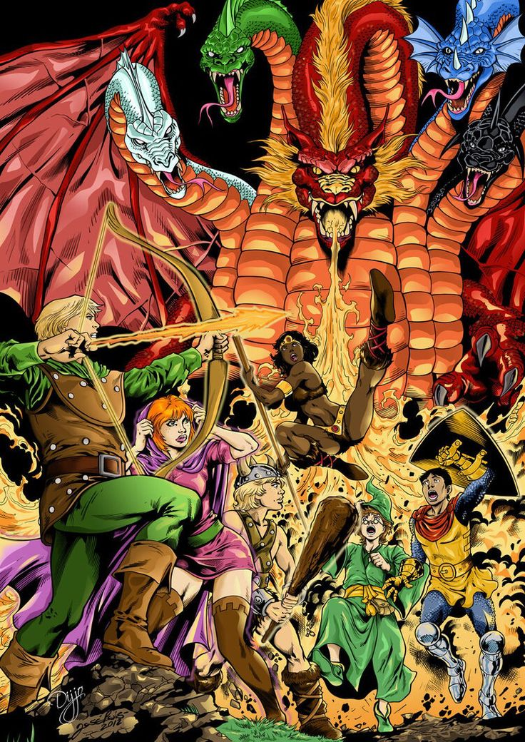 """Art from the """"Dungeons & Dragons"""" cartoon. I loved that show!"""