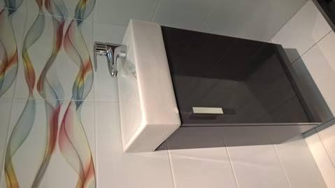 Skrinka s umývadielkom Jika LITT 40 cm 39 cm, šedá, univerzálne otváranie