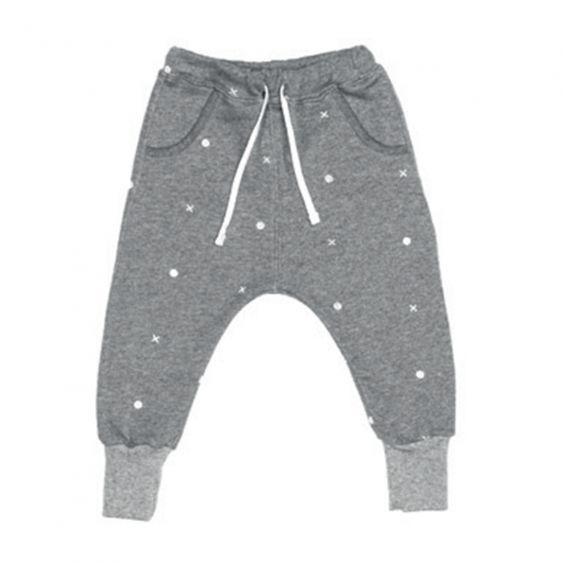 Beau Loves Dandy Drawstring Pants - Grey Marle