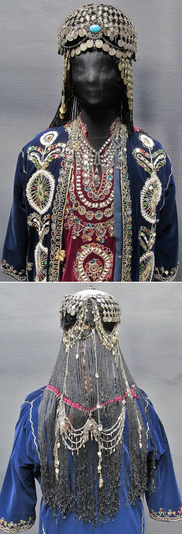Close-ups of a traditional bridal-festive costume from the Urfa province. 1980s. From the Arabic speaking population of the region. Turkey