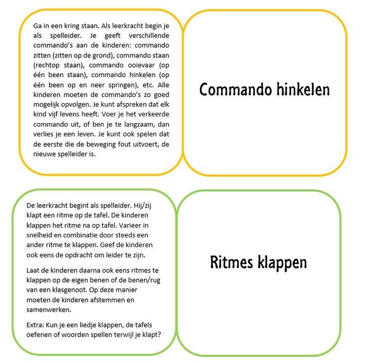 Ik heb kaartjes gemaakt met bewegingstussendoortjes, tekst van http://www.onderwijsmaakjesamen.nl/ De kaartjes kun je in een bakje bewaren en bijvoorbeeld het groepje met de meeste krullen een kaartje laten kiezen om met de hele klas te doen.