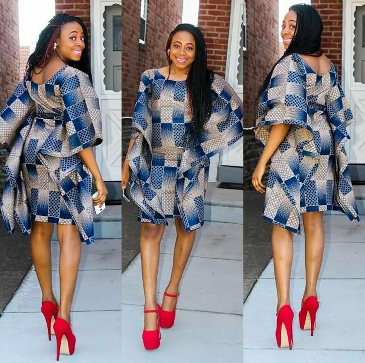 African print short dress ~Latest African Fashion, African Prints, African fashion styles, African clothing, Nigerian style, Ghanaian fashion, African women dresses, African Bags, African shoes, Nigerian fashion, Ankara, Kitenge, Aso okè, Kenté, brocade. ~DK