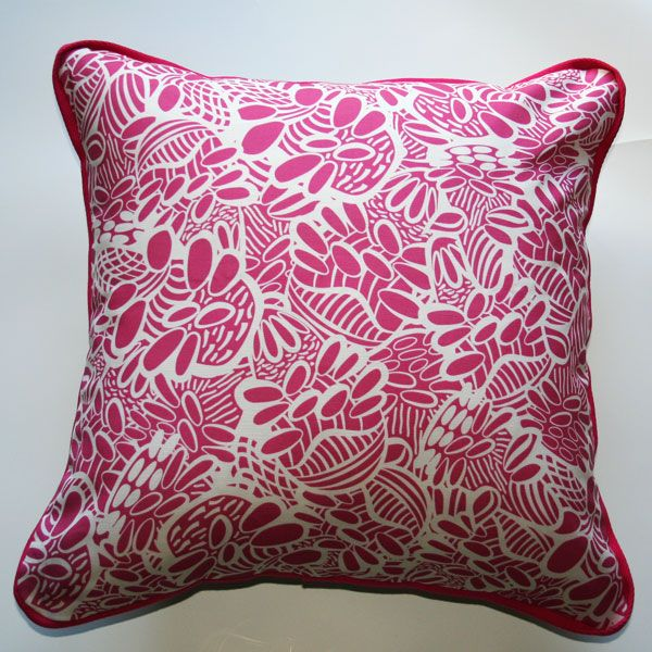 Cushion Banksia Bouquet Pink - Katz Designer Textiles