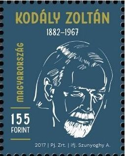 2017 Zoltán Kodály Memorial Year, Single Stamp