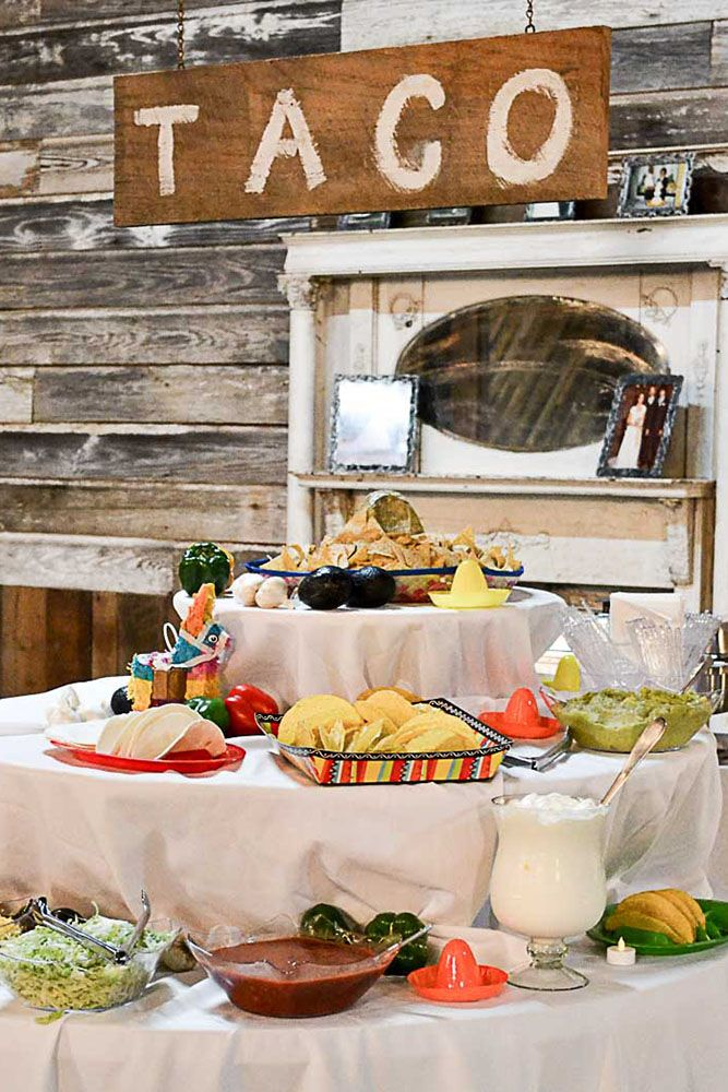 How To Decorate Wedding Taco Bar Wedding Reception Food Taco