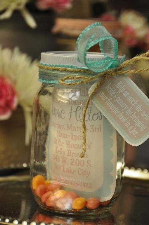 Mason Jar bridal shower.  So many cute ideas for a mason jar theme! Book of Ra