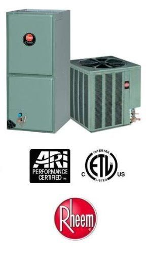 3.5 Ton 16 Seer Rheem Air Conditioning System - 14AJM42A01 - RHLLHM4821JA by Rheem. $2139.00. Single Stage Air Conditioner with Multi-Speed X-13 Blower (R-410A) - Cooling Only split air conditioning system. Includes condenser and air handler. Not a heat pump. Supplimental electric heat strips can be added to air handler to provide electric heat (sold seperately).
