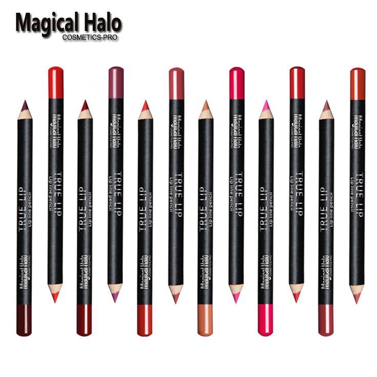 12 sztuk/partia 12 Kolor Magical Halo Eyeliner Pencil Wodoodporna Lipliner Contour Zestaw Kosmetyków Makijaż Eyeliner Lip Pencil Matte