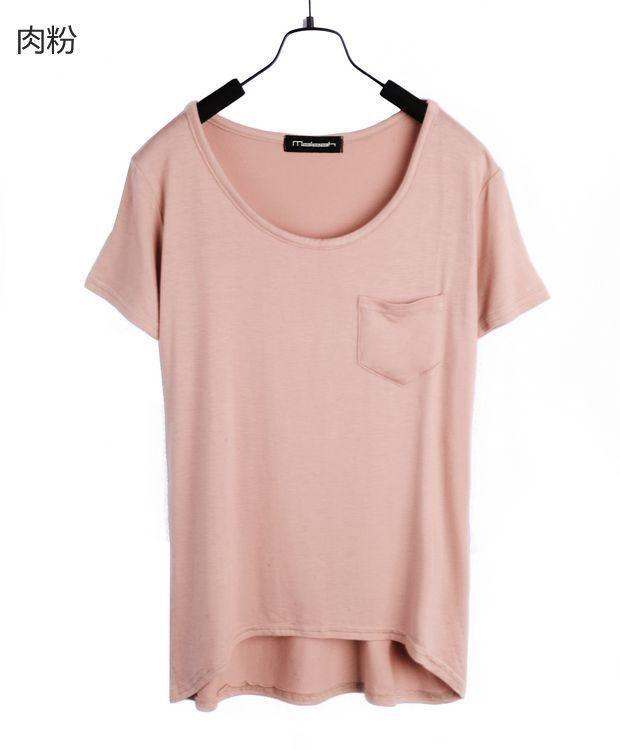 Взрыв высокая эластичность модели женского конфеты цвет хлопка футболки сплошной цвет модальный карманные футболки женщин футболки женские купить на AliExpress