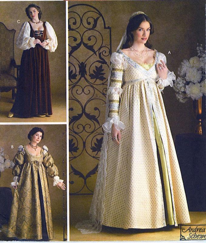 RENAISSANCE WEDDING MAIDEN COSTUME SEWING PATTERN 16-20 Simplicity 3812 | eBay