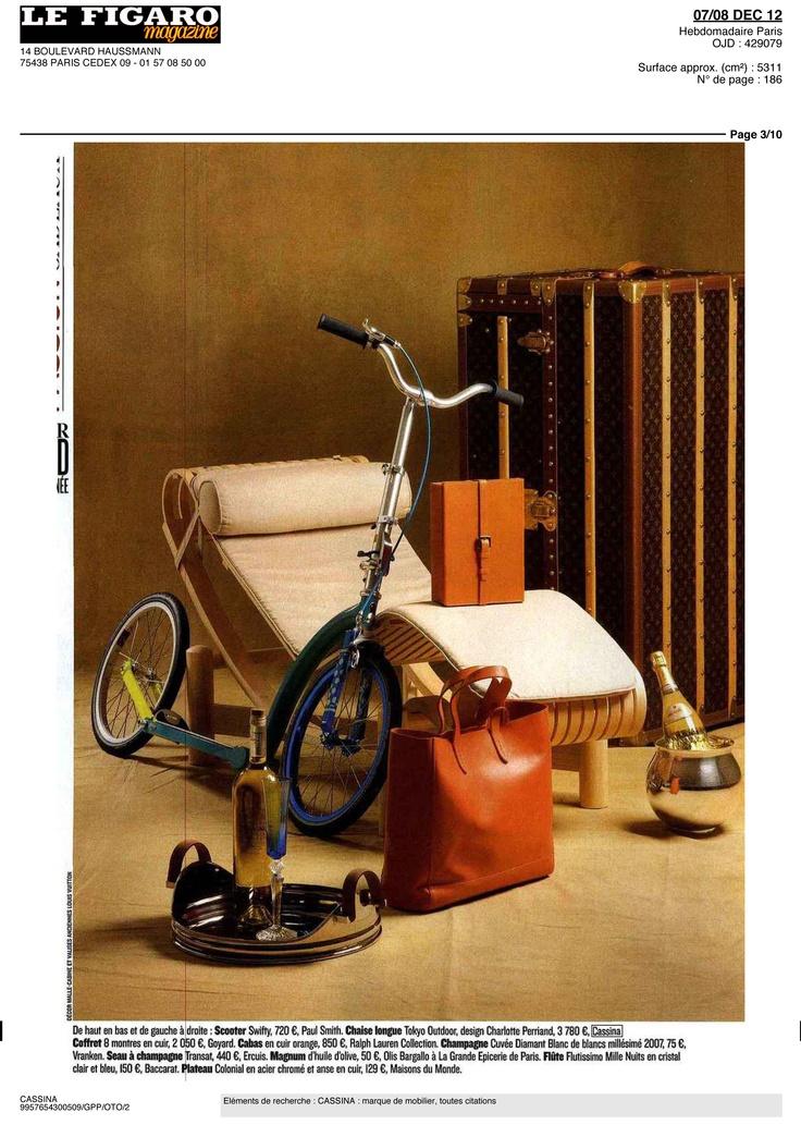 FIGARO MAGAZINE - LC4, design Le Corbusier, Jeanneret, Perriand