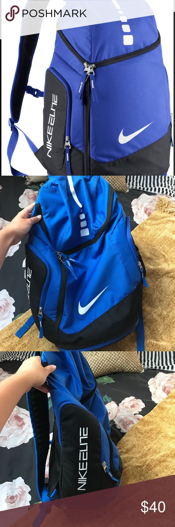 Nike Elite bag Great Nike bag, very roomy to fit as much as you need. Used only a few times. Still in great condition. 😊 Nike Bags Backpacks