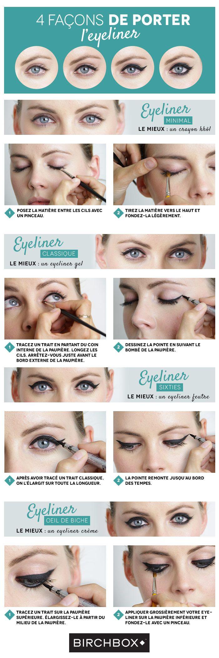 4 façons de porter l'eyeliner
