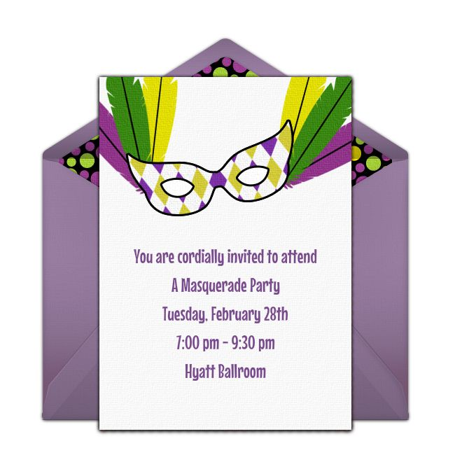 113 best Mardi Gras Party images on Pinterest Mardi gras party - fresh invitation for birthday party by email