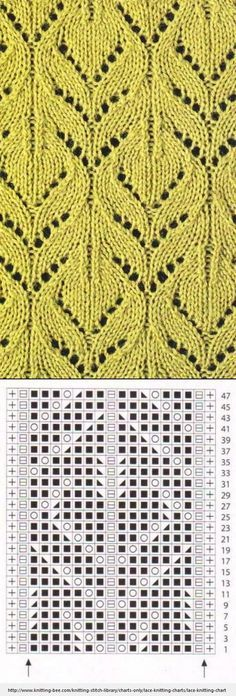 Lace Knitting Pattern with chart More
