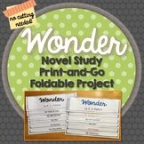 Wonder, Novel Study, Foldable Project, Writing Prompts, Vo