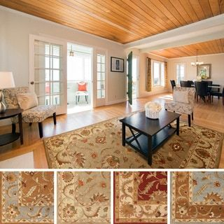 Shop For Hand Tufted Melanie Bordered Traditional Wool Rug 9 X 13