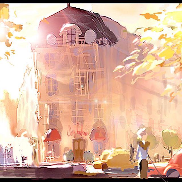 Concept art ratatouille  #background #pixar