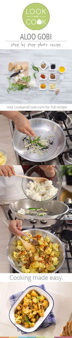 ALOO GOBI RECIPE Aloo Gobi / Potato Cauliflower curry (#LC14031)