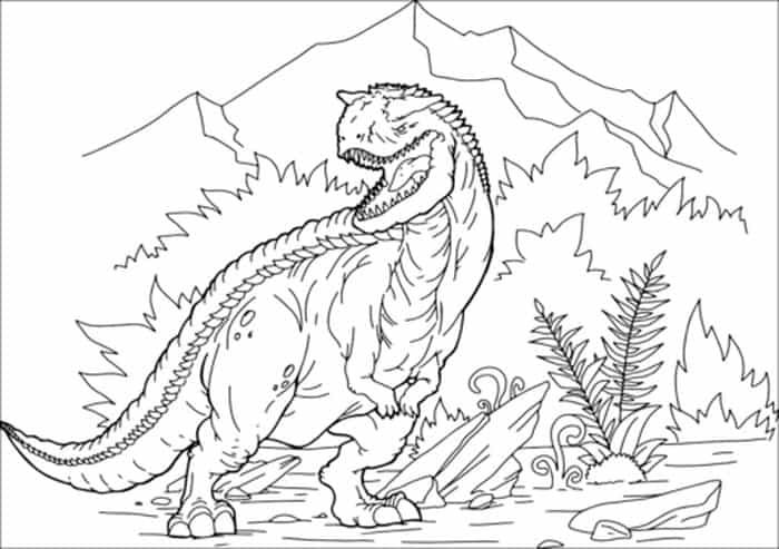 Carnotaurus Dinosaur Coloring Pages Free Dinosaur Coloring Pages Animal Coloring Pages Dinosaur Coloring