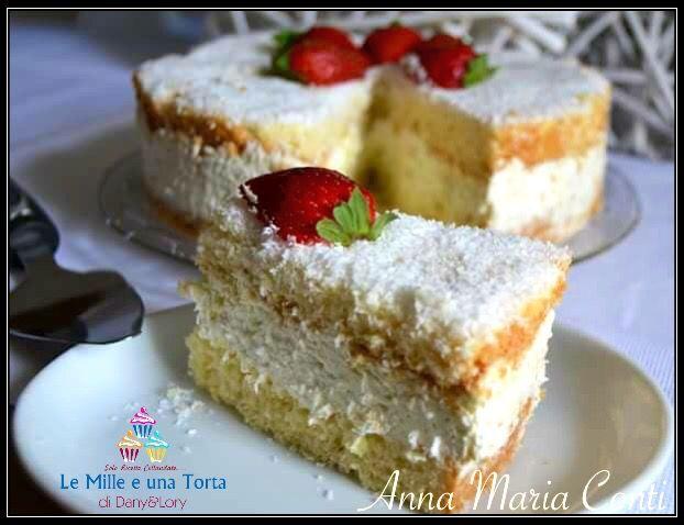 Condividi la ricetta...TORTA AL COCCO RICETTA DI: ANNA MARIA CONTI Tortiera da 22 cm di diametro Anello per torte regolabile Ingredienti e dosi: Per la base 200 g di farina miscela per torte 80 g…