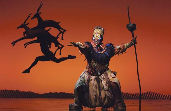 The Lion King at the Mayflower Theatre, Southampton, in 2014. Fitting up and fitting in on tour
