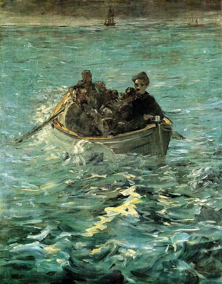 Edouard Manet (French, 1832–1883) |  The Escape of Rochefort— The Large Study 1880–81 Oil on canvas |  Kunsthaus Zürich