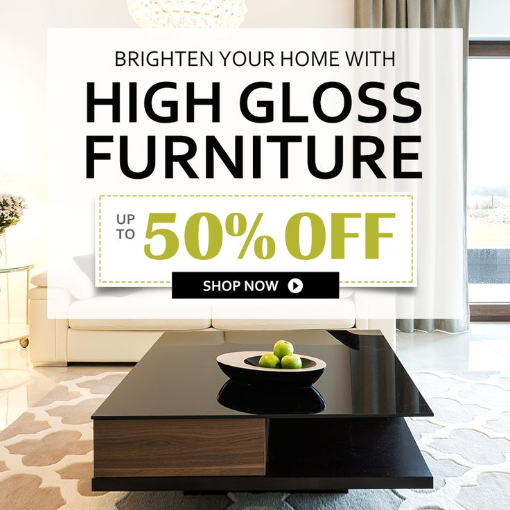 New Year, New Styled High Gloss Furniture, up to 50% off. #furnitures #highglossfurnitures #newyears2016