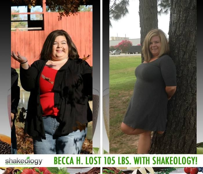 """Beeca H. lost 105 lbs. while working out and drinking Shakeology! In her Shakeology review, she said: """"I believe Shakeology has done so much for me. It has given me so much more energy and I don't get as run down as easy like before. With all the vitamins and nutrients, it has been my breakfast every morning for a year now and it has helped me with my eating habits."""" #ShakeologyResults http://www.onesteptoweightloss.com/shakeology-review"""