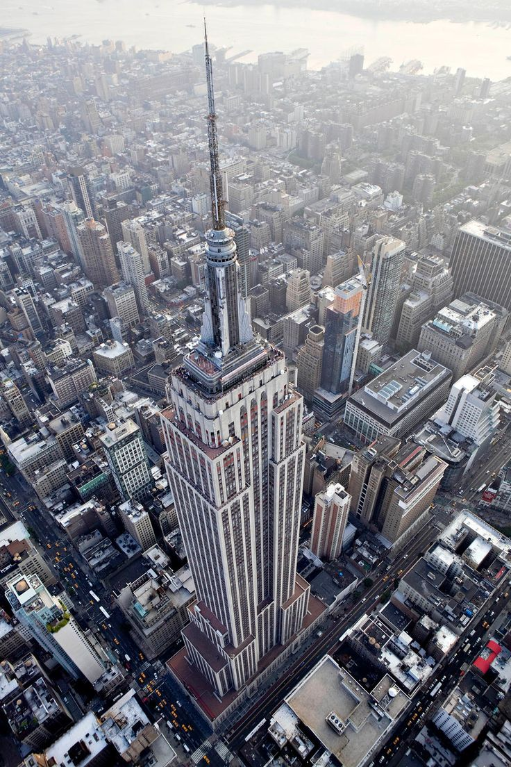 The Empire State Building stands in this aerial photograph taken over New York, U.S., on Wednesday, July 7, 2010. Photographer: Daniel Acker/Bloomberg