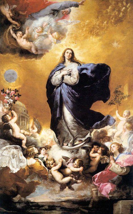 """Jose de Ribera: """"Inmaculada Concepción"""", 1635. Ubicada en el Retablo Mayor de la Iglesia de las Agustinas de Monterrey. Salamanca"""