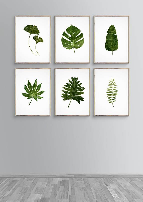 14 Watercolor Green Leaves Vector Material Watercolor Leaves