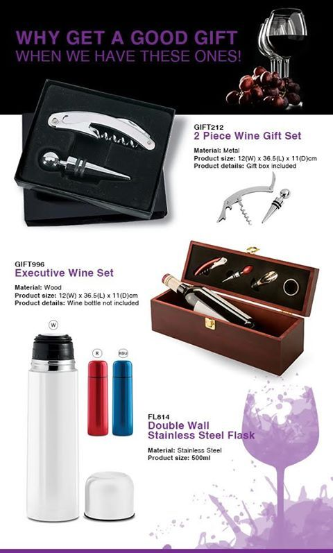 Great Gifts To Get and Give  🎁2 piece Wine set  ✨Gift box included.  ✨Product Tags: Picnic & Outdoor Executive Gifts  ✨Product Size: 36.5(L) x 12(W) x 11(H)cm...  ✨Box weight: 13.5 kg  ✨Box Size: 63.5(L) x 27.5(W) x 39(H)cm  ✨Material: Metal *MINIMUM QUANTITIES APPLY*  For more info -  See more products on our website - http://www.lindajacobspromotions.co.za/  Email: linda@lindajacobspromotions.co.za  Call us - 083 6280181 | 021 557 2152 #lindajacobspromotions #Branding #Promotions…