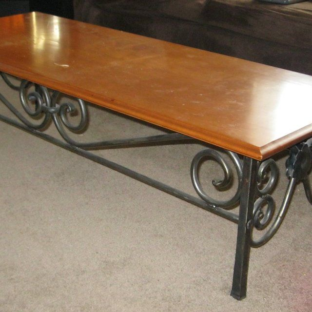 Wrought Iron Coffee Table  Visit stonecountyironworks.com for more amazing wrought iron designs!