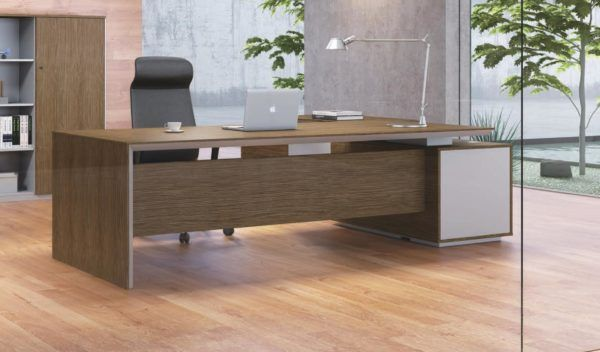 Sirius 8 Feet Desk With Height Adjustable Side Cabinet