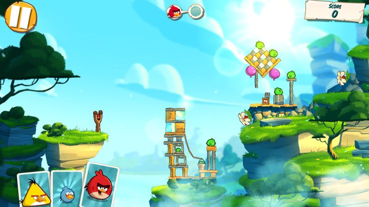 Angry birds under Pigstruction4 level