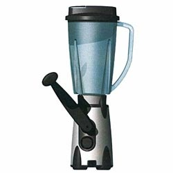 $93 Vortex Hand-Crank Blender: Place the handle in the top position for LOW SPEED (Drink Mixes, Dehydrated Milk, Sauces, Soups, Crepes, Baby Food, Salad Dressings, Salsas, Dips, Pancake & Waffle Batters, etc.). Place the handle in the bottom position for HIGH SPEED (Crush Ice, Fruit & Milk Shakes, Smoothies, Granitas & Frappes). The 1.5 Liter PitcherLow Speed, Waffles Batter, Pancakes Waffles, Fruit Milk, Salad Dressings, Smoothie, 1 5 Liter, Baby Foods, Tops Positive