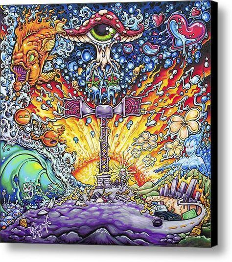 "Drew Brophy Art ""SUBLIME WITH ROME SIREN"" S/N Limited edt Canvas 30"" x 30"" Edition of 100"