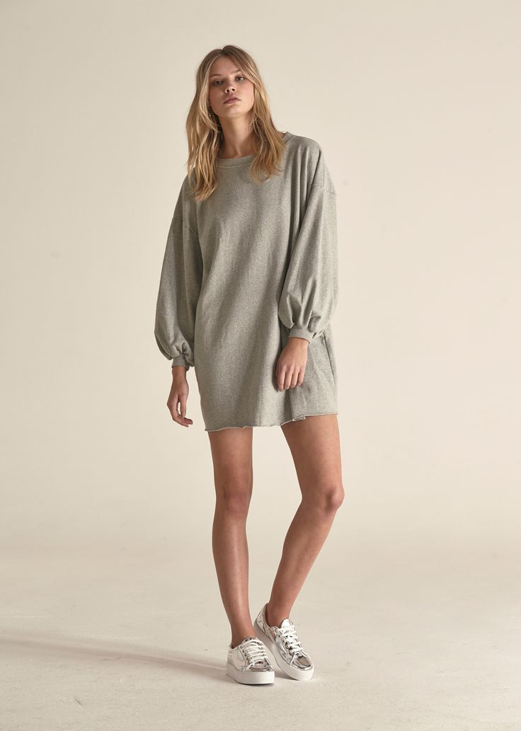 Steele - Francine Sweater Dress - Grey Marle