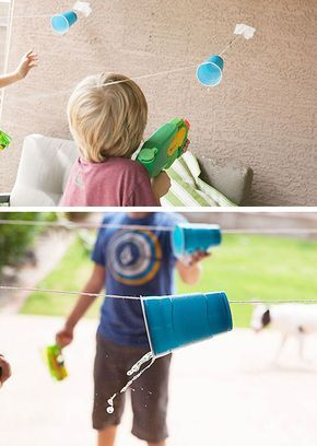 Cup Races   Click Pic for 19 DIY Summer Crafts for Kids to Make   Easy Summer Activities for Kids Outside