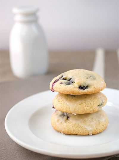 Christmas Morning Cookies -  Blueberry Buttermilk Cookies
