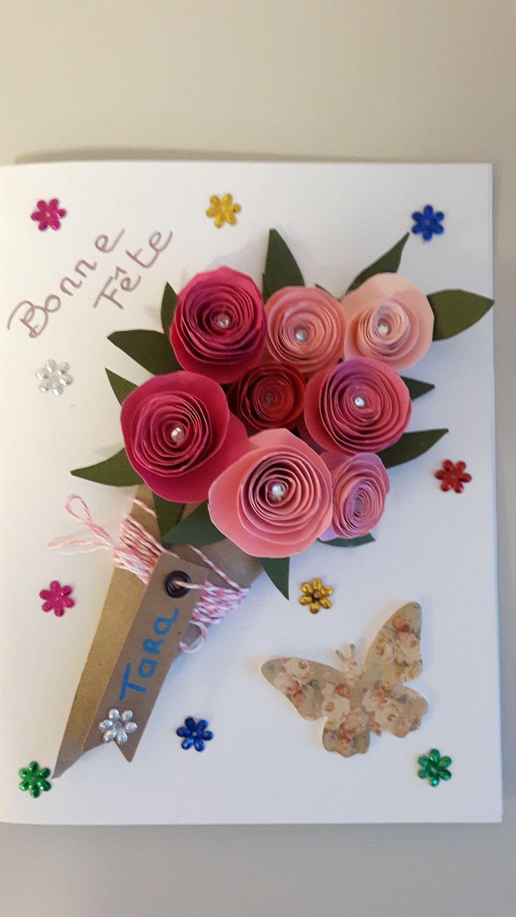 carte anniversaire Roses
