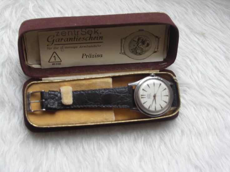 old stock never used all steel 16 jewel german made umf ruhla box and all paperwork rare vintage ddr gub glashutte just reduced!!! by Bohemianwatchsource on Etsy