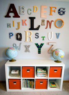 Abc World Map Baby Boy Nursery Theme Decor Wall Decorations Arrangement  Hangings