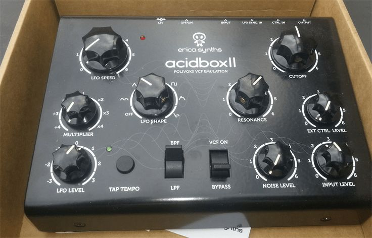 Erica synths is a Latvian company that create boutique synths, modular components and DIY kits. In December last year they announced a MkII version of Acidbox a Polivox VCF replica filter. I…