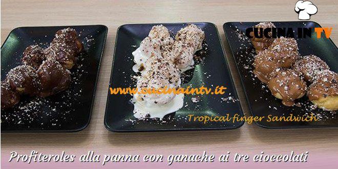 Profiteroles alla panna con ganache ai tre cioccolati ricetta Annamaria da Bake Off Italia | Cucina in tv